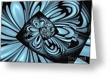 Blue Deep Hole Greeting Card by Donna Bentley