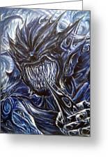 Blue Demon Greeting Card