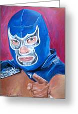 Blue Demon Greeting Card