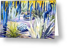 Blue Desert Botanical Desert Phoenix Greeting Card