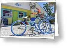 Blue Dog Matlacha Island Florida Greeting Card