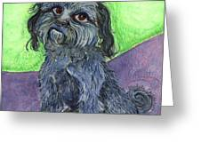 Blue Dog Greeting Card