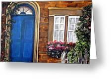 Blue Door 2 Greeting Card