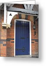 Blue Door At 49 High Greeting Card