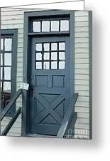 Blue Door At The Seaport Greeting Card