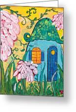 Blue Door Fairy House Greeting Card