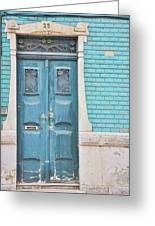 Blue Door, Portugal Greeting Card