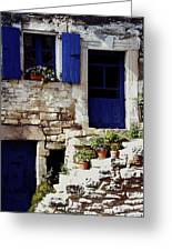 Blue Door Provence Greeting Card