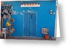Blue Doors In Mexico Greeting Card