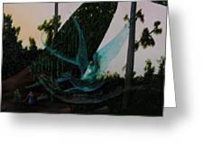 Blue Dragon-detail Greeting Card