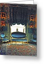 Blue Drawing Room Greeting Card by DigiArt Diaries by Vicky B Fuller