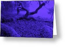 Blue Dreaming Moon Greeting Card