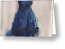 Blue Dress II Greeting Card