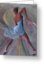 Blue Dress Greeting Card by Ikahl Beckford
