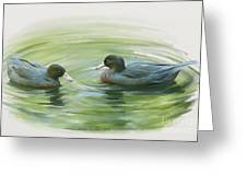 Blue Ducks  Greeting Card