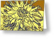 Blue-edged Dahlia Greeting Card