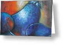 Blue Eggplants Greeting Card