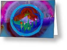 Blue Embrace Greeting Card