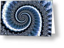 Blue Escheresque Greeting Card