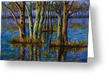 Blue Evening. Greeting Card