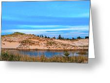 Blue Evening In Ludington State Park Greeting Card