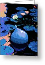 Blue Evening On The Pond Greeting Card