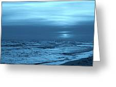 Blue Evening Greeting Card by Sandy Keeton