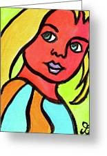Blue Eyed Blonde Greeting Card