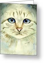 Blue-eyed Cat Greeting Card
