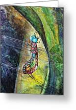Blue-eyed Darner Mating Wheel Greeting Card