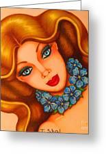 Blue Eyes 3 Greeting Card
