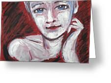 Blue Eyes - Portrait Of A Woman Greeting Card
