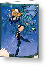 Blue Fairy Of Water Greeting Card