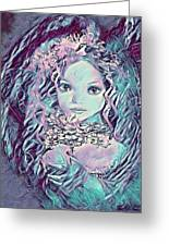 Blue Fairy Princess Greeting Card