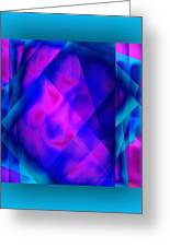 Blue Fashion Greeting Card