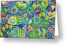 Blue Fish Forest Greeting Card