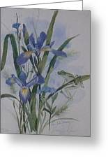 Blue Flags Greeting Card