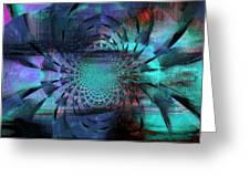 Blue Fleur Greeting Card