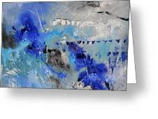 Blue Flight Abstract Greeting Card