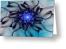 Blue Floral 083010 Greeting Card