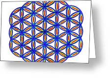 Blue Flower Of Life Greeting Card