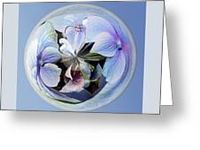 Blue Flower Orb Greeting Card