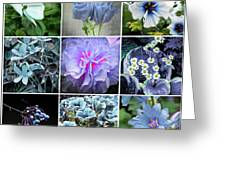Blue Flowers All Greeting Card