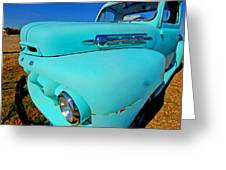 Blue Ford Pickup Truck Greeting Card