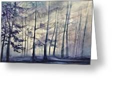 Blue Forest In Winter Greeting Card