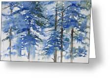 Blue Forrest Greeting Card