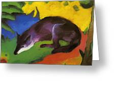 Blue Fox 1911 Greeting Card