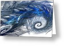 Blue Fractal Storm Greeting Card