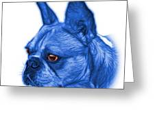 Blue French Bulldog Pop Art - 0755 Wb Greeting Card