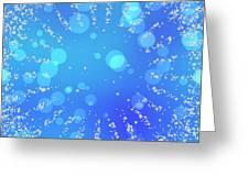 Blue Frozen Window Greeting Card